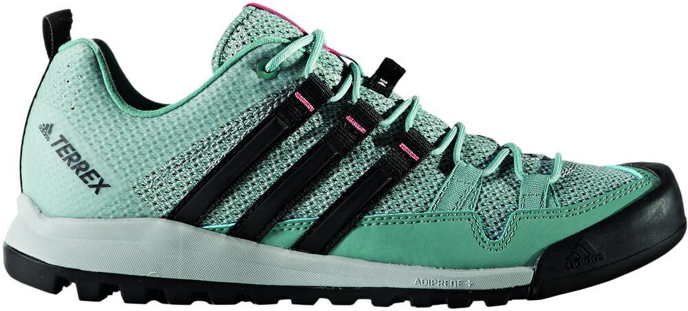adidas Terrex Solo Shoes Women Clear Onix/Vapour Steel/Core Black Schuhgröße 6 RG9yDj